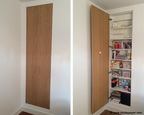 Inbouwkast op maat meubel projecten studio jasper for Inbouwkast op maat
