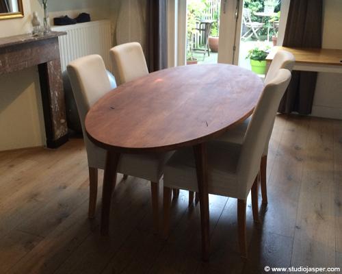 Eiken eettafel in utrecht meubel projecten studio jasper